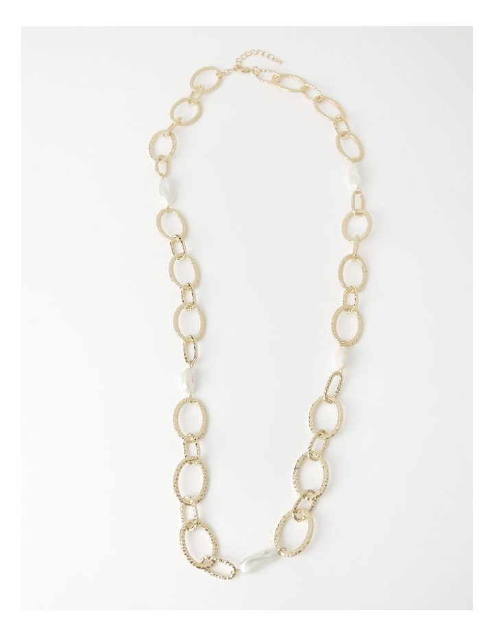 Statement Chain & Pearl Necklace image 2