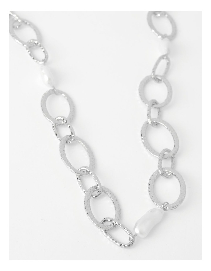 Statement Chain & Pearl Necklace image 1