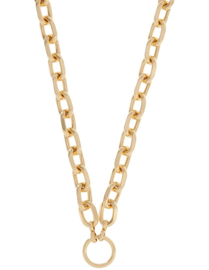 24k Gold Plated Centre Circle Link Necklace image 1