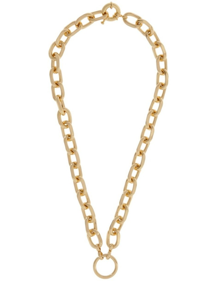 24k Gold Plated Centre Circle Link Necklace image 2