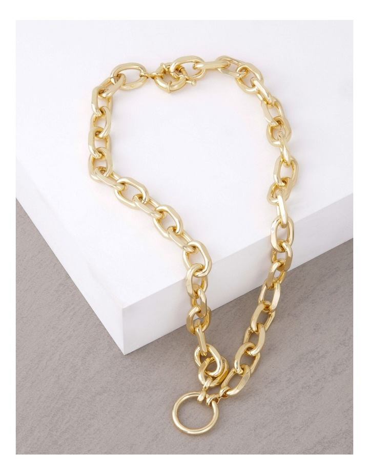 24k Gold Plated Centre Circle Link Necklace image 3