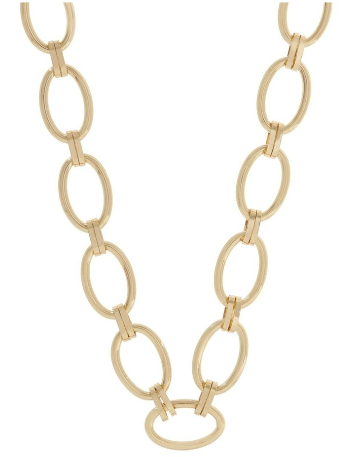 24k Gold Plated Clamp Link Necklace image 1