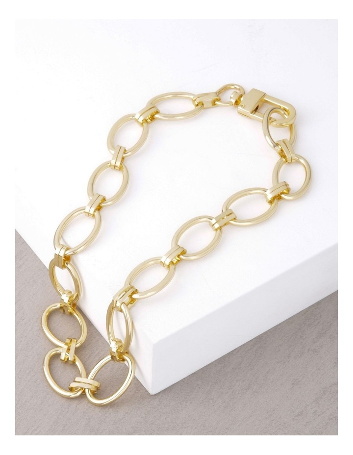 24k Gold Plated Clamp Link Necklace image 3