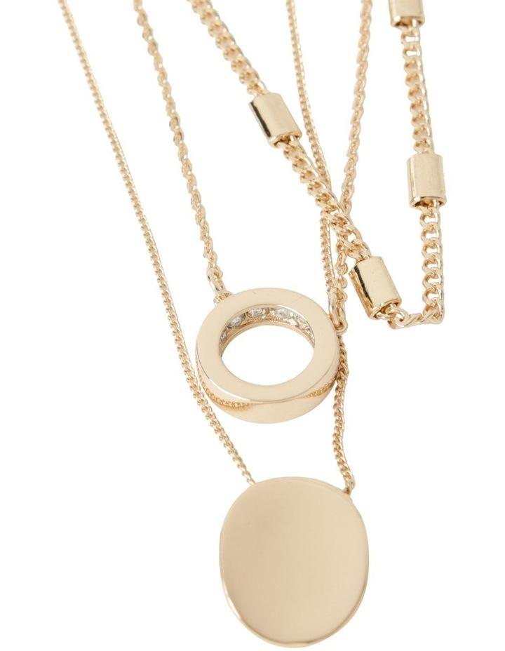 Inset Diamonte Layered Necklace image 1
