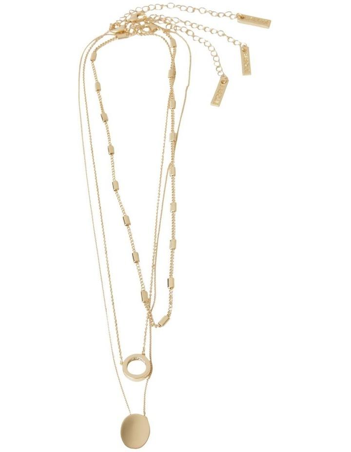 Inset Diamonte Layered Necklace image 2