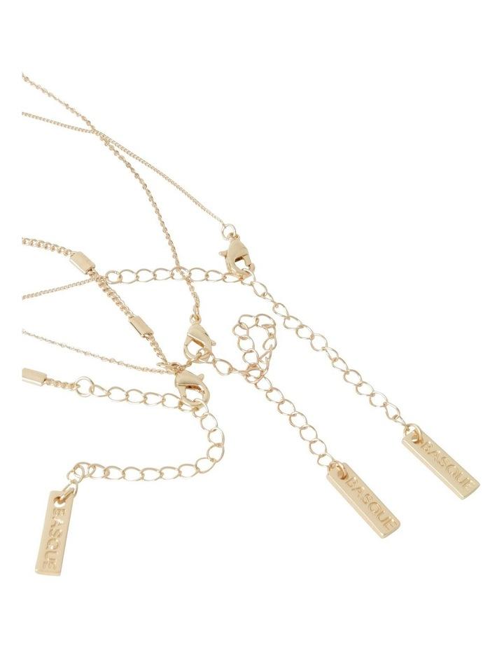 Inset Diamonte Layered Necklace image 4