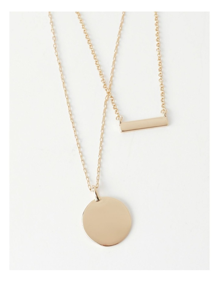Bar & Disc Layered Necklace image 1