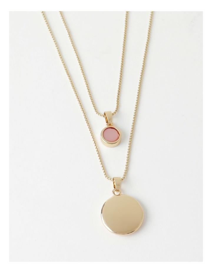 Stone & Circle Layered Necklace image 1