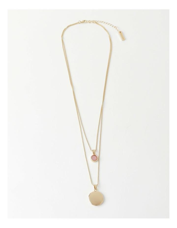 Stone & Circle Layered Necklace image 2