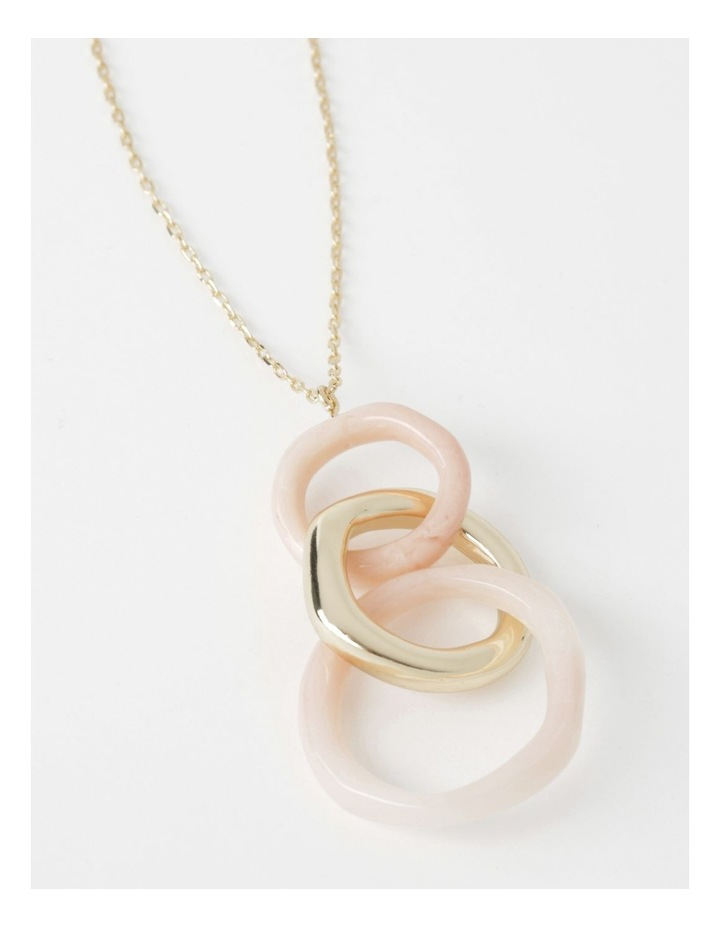Peach Skin Circle Pendant image 1