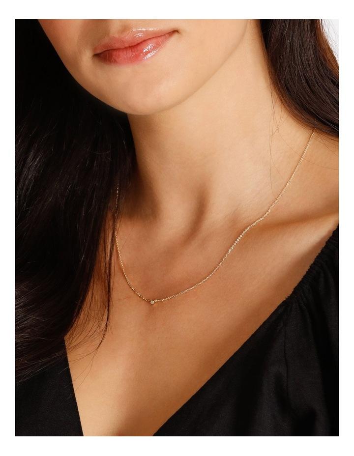Single Stone Fine Chain Necklace image 2