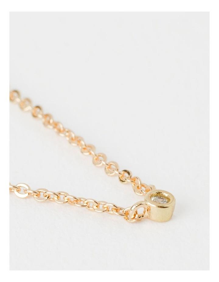 Single Stone Fine Chain Necklace image 3