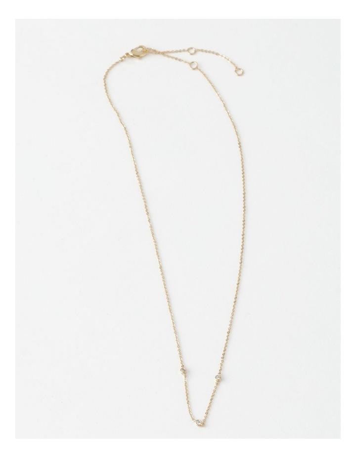 Trio Stone Fine Chain Necklace image 1