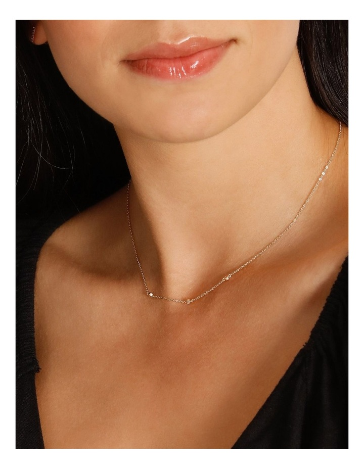 Trio Stone Fine Chain Necklace image 2