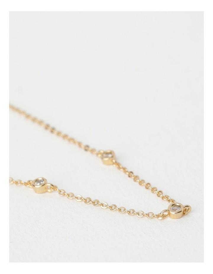 Trio Stone Fine Chain Necklace image 3