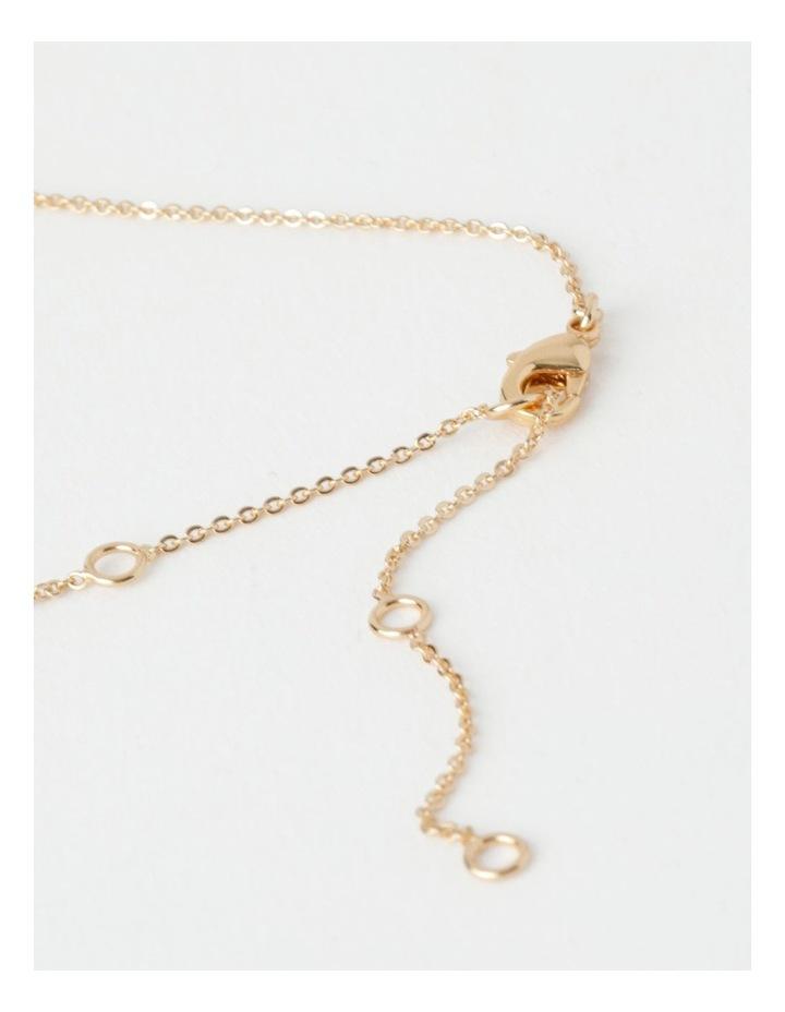 Trio Stone Fine Chain Necklace image 5
