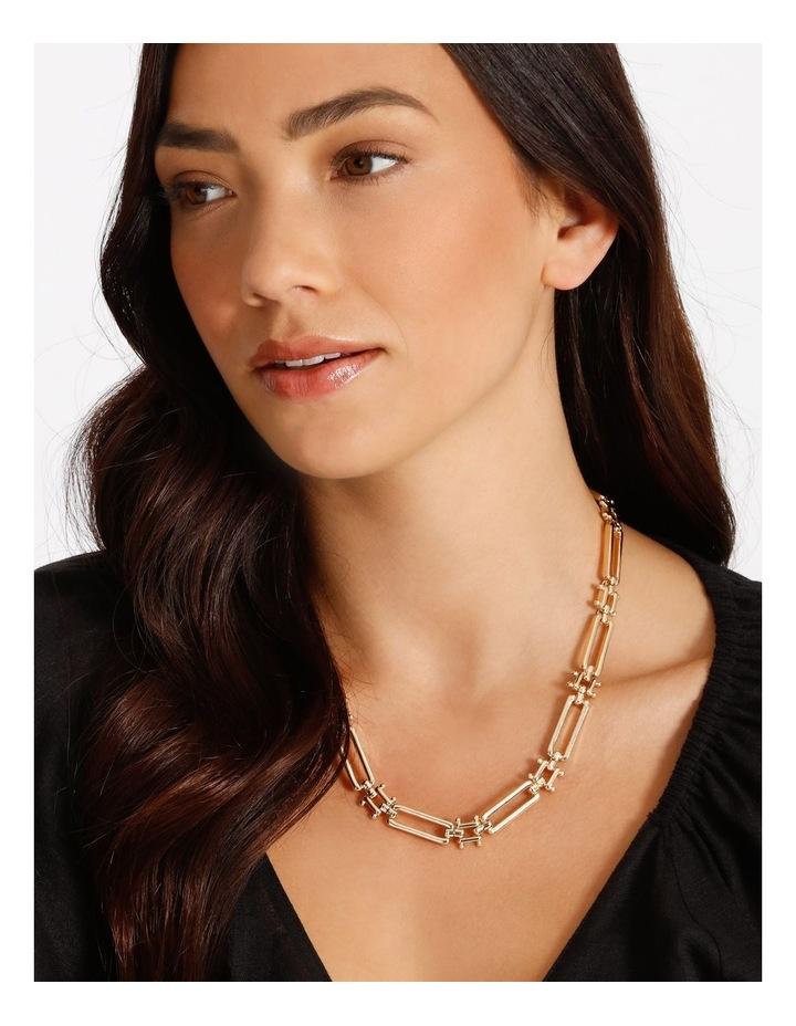 Rectangular Link Necklace image 2