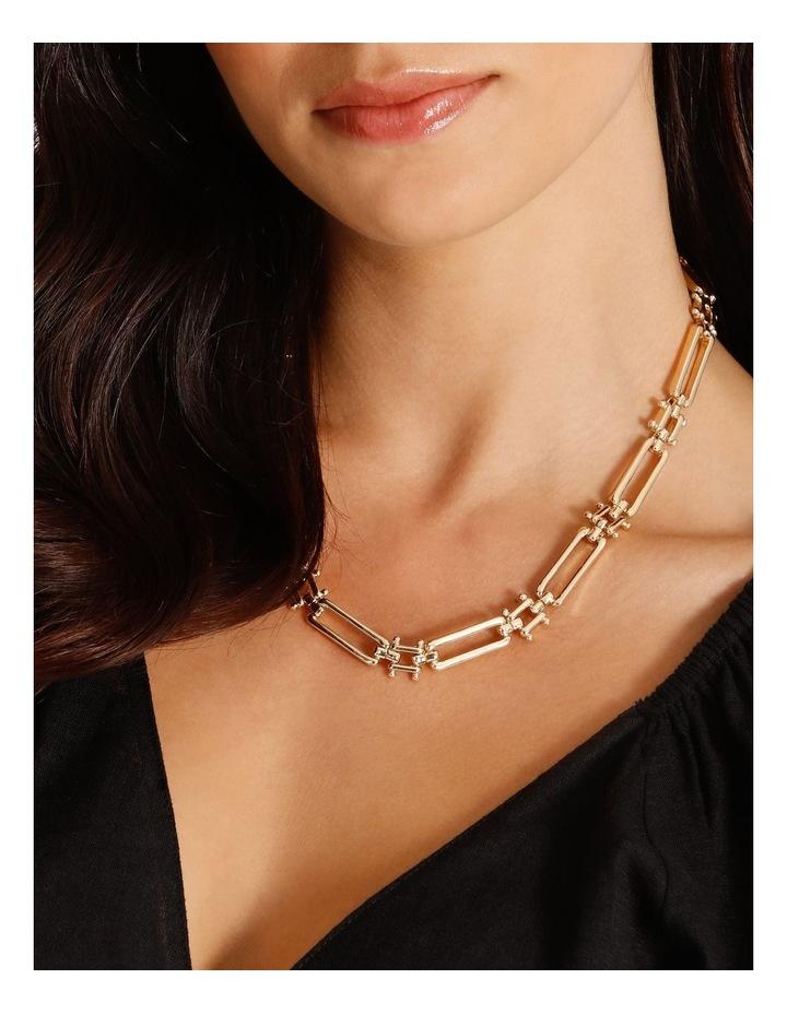 Rectangular Link Necklace image 4