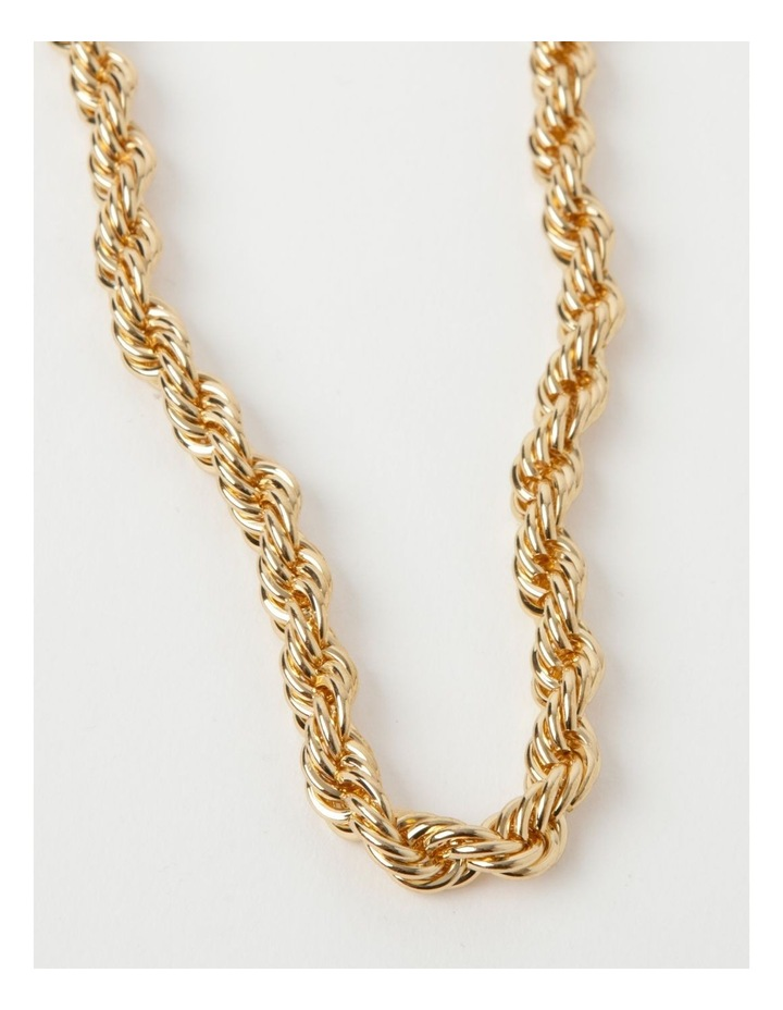 Rolled Chain Gold Necklace image 1