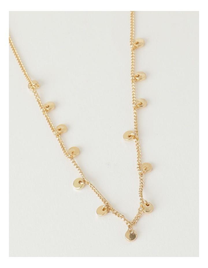 Mini Disc Gold Necklace image 1