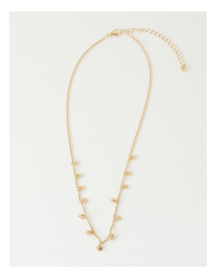 Mini Disc Gold Necklace image 2