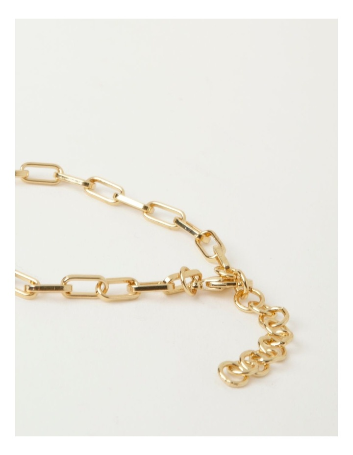 Rectangle Link Gold Necklace image 3