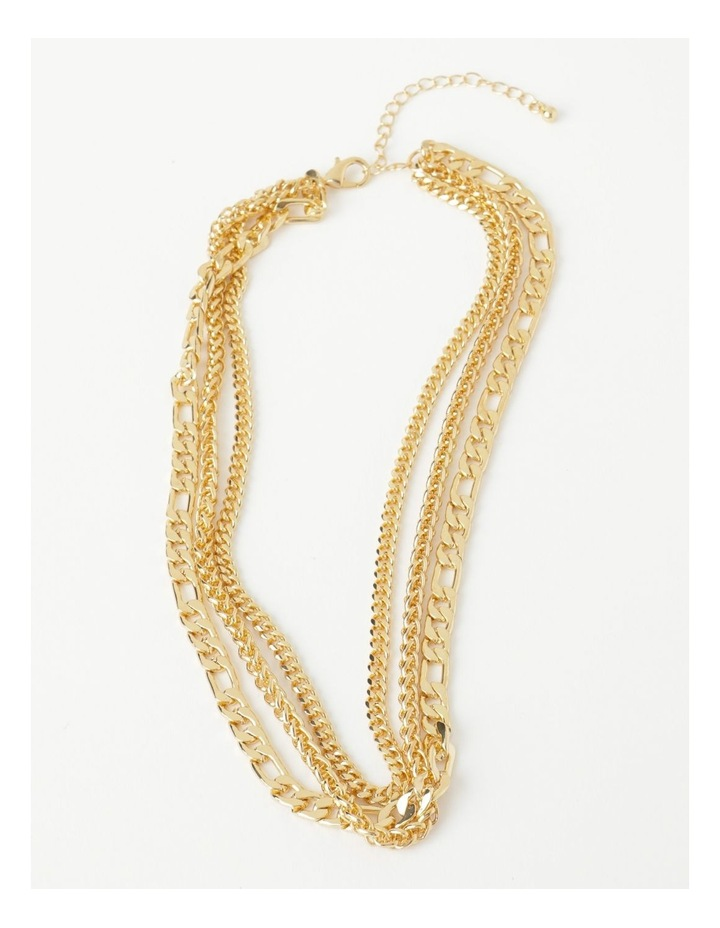Layered Statement Chain Necklace image 1