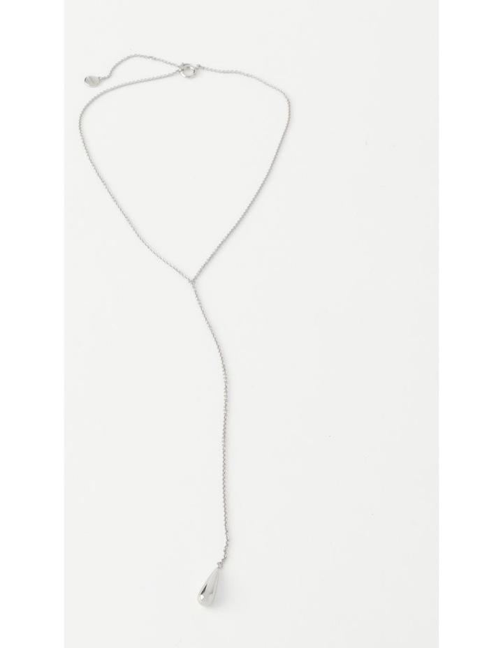 Teardrop Silver Necklace image 1