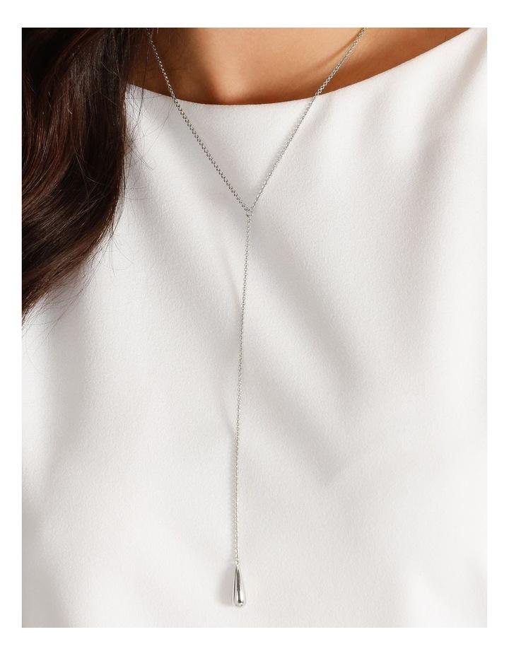 Teardrop Silver Necklace image 4