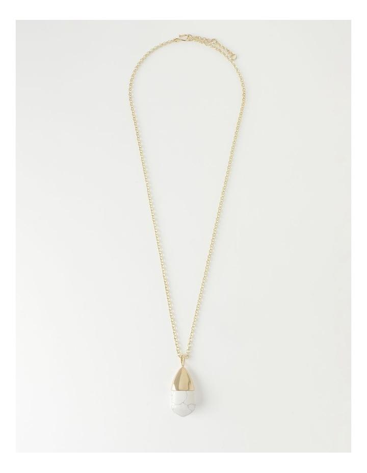 Stone Pendant Longline Necklace image 1