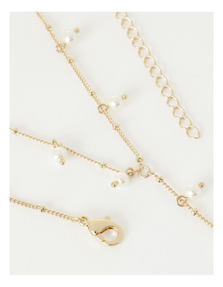 Faux Pearl Lariat Necklace image 2