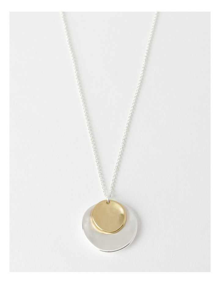 Double Disc Longline Necklace image 1