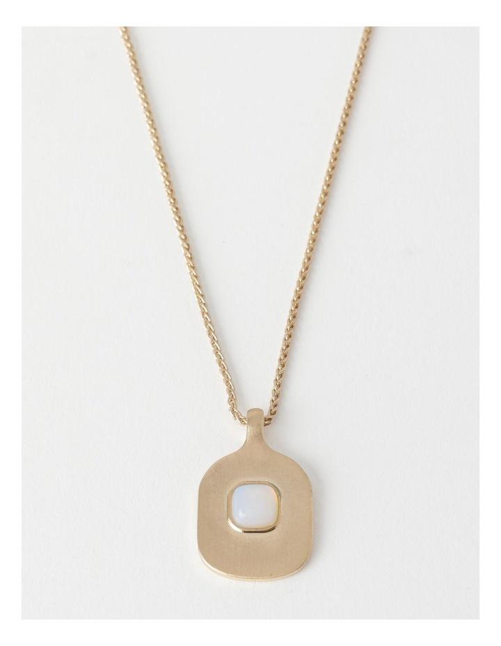 Stone Pendant Gold / White Necklace image 1