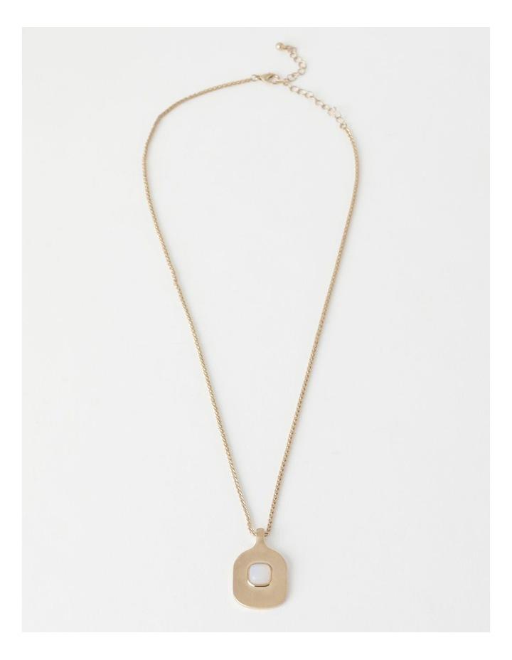 Stone Pendant Gold / White Necklace image 2