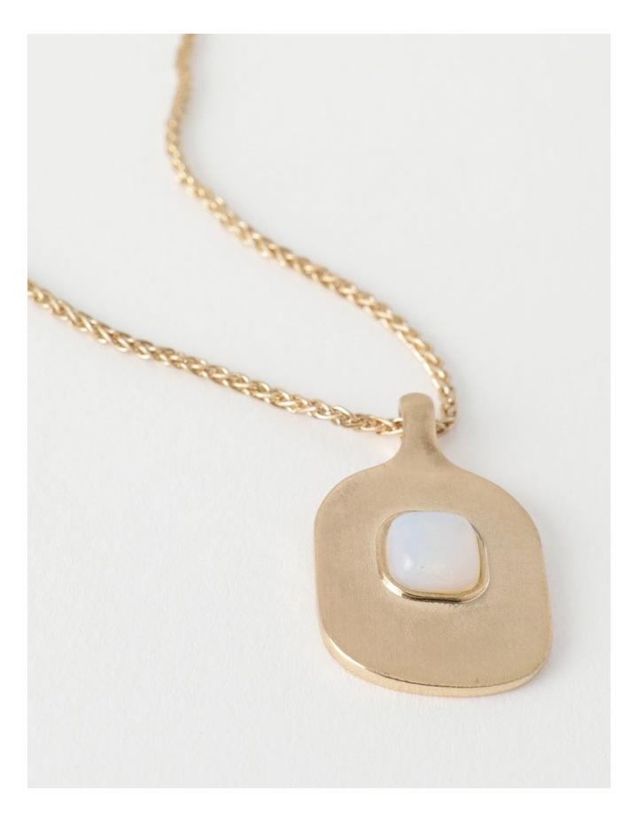 Stone Pendant Gold / White Necklace image 3