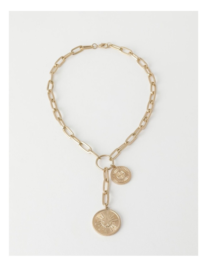 Coin Charm Gold Necklace image 2