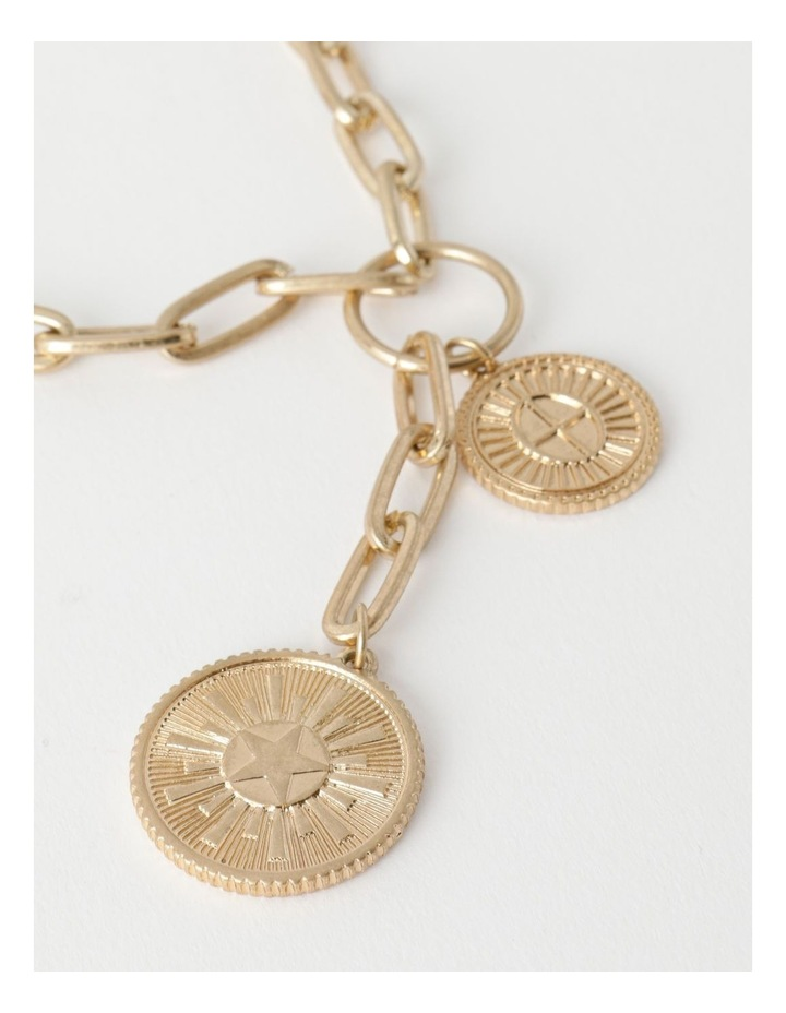 Coin Charm Gold Necklace image 3