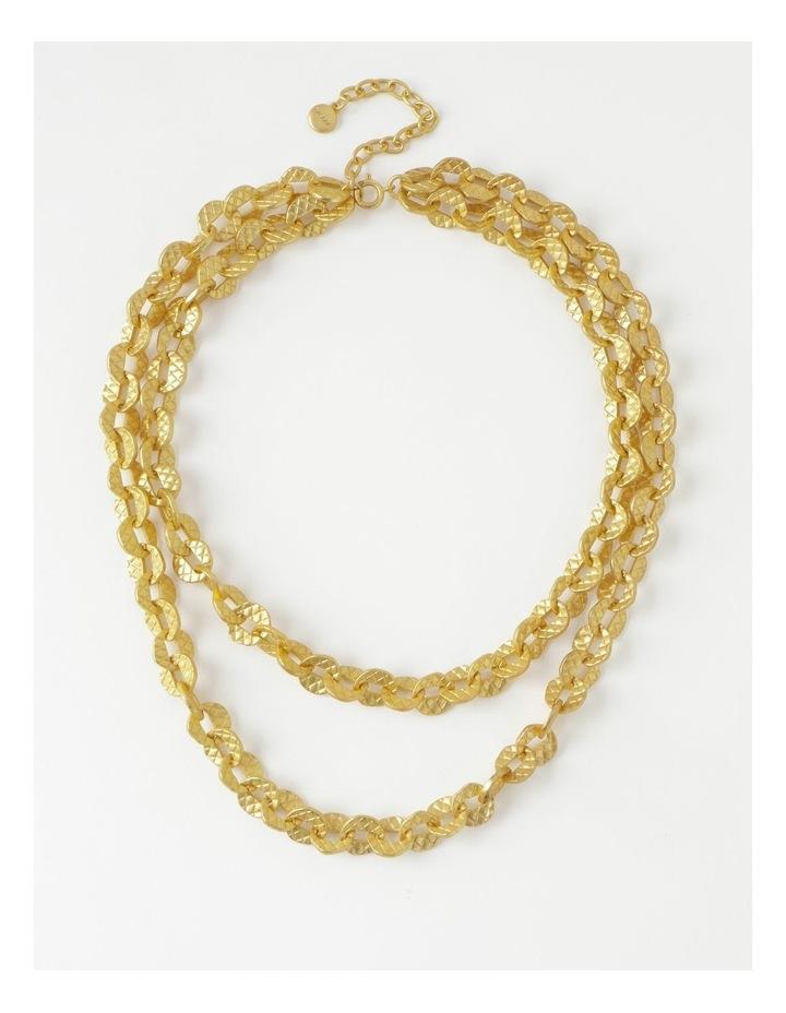 Irregular Link Chain Gold Necklace image 1