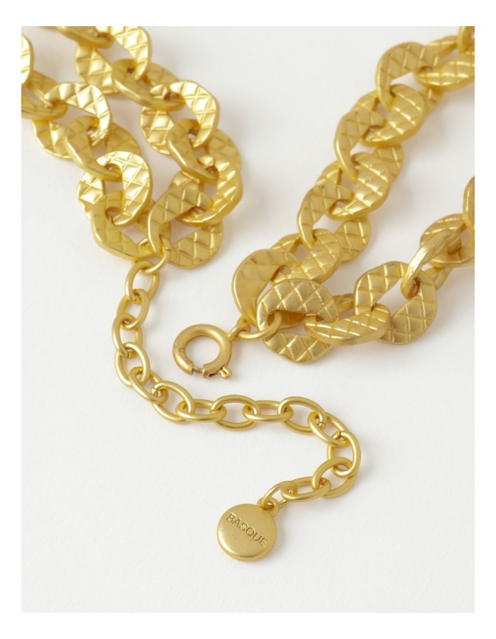 Irregular Link Chain Gold Necklace image 2