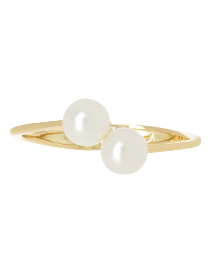Ivory Pearl Look Hinged Cuff image 1