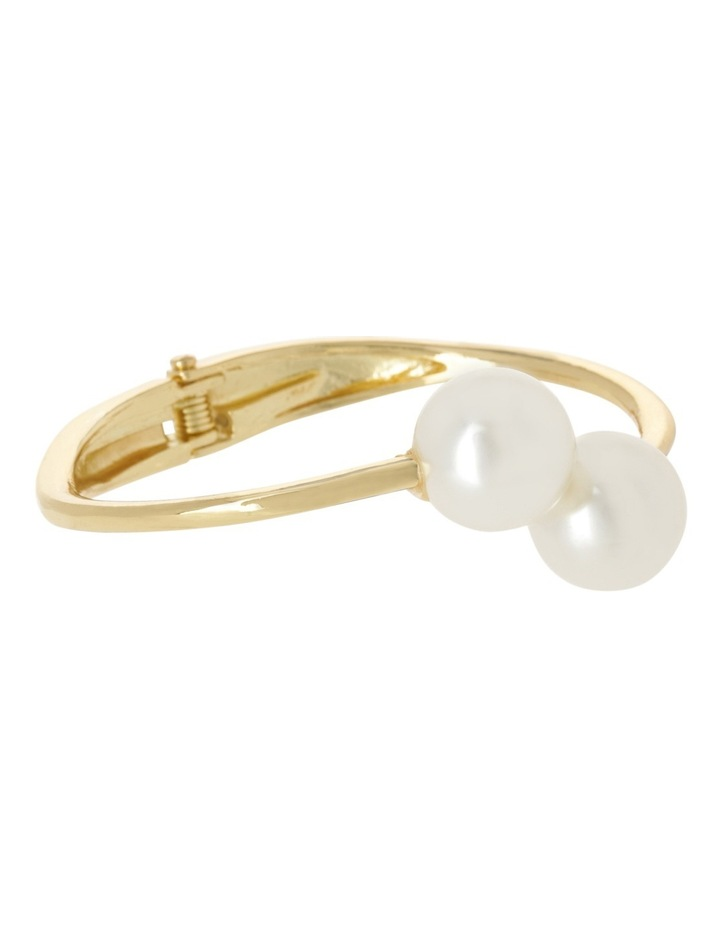 Ivory Pearl Look Hinged Cuff image 2