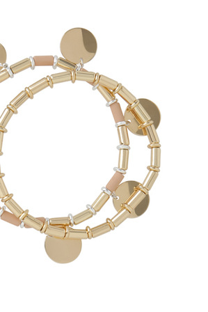 Basque - Circle Bead Bracelet 2pk Blush