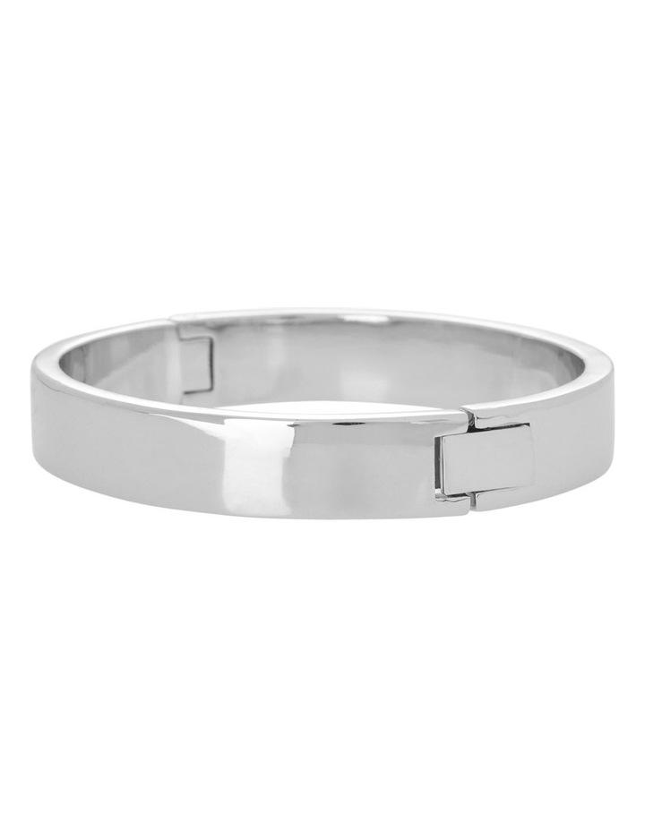 Hinged Bangle Silver image 1