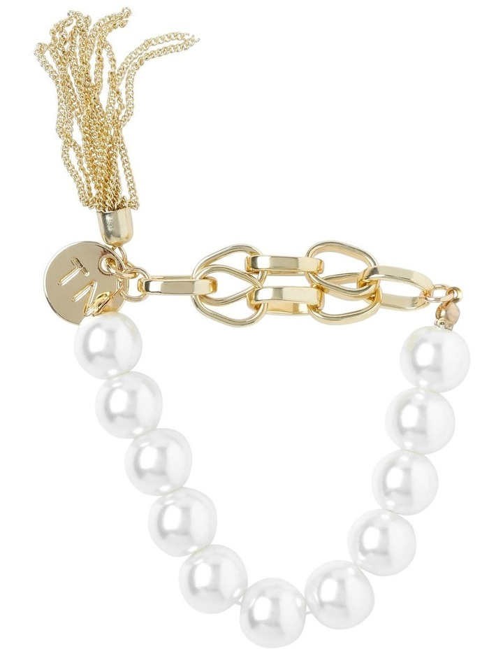 Winter Pearl Stretch Bracelet image 1