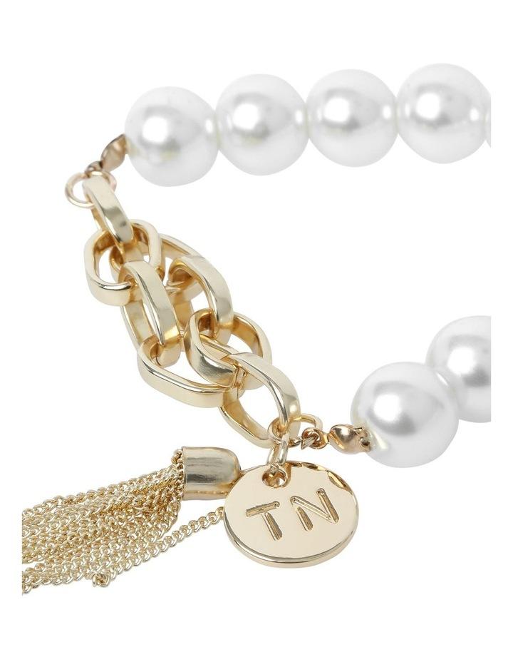 Winter Pearl Stretch Bracelet image 2