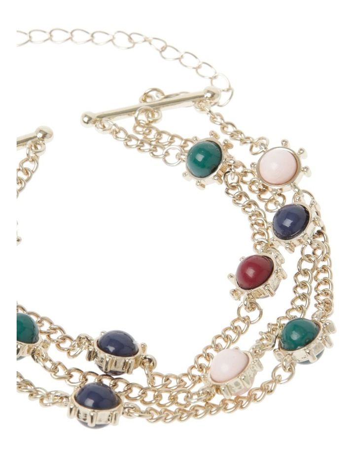Multi Gem Chain Bracelet image 2