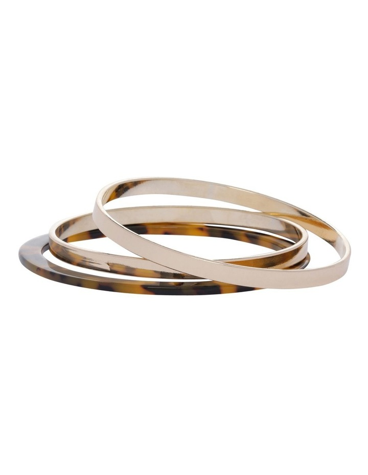 Billie Marble Metal Bangle Stack image 1