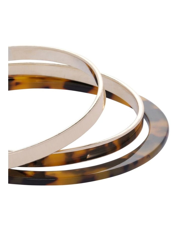 Billie Marble Metal Bangle Stack image 2
