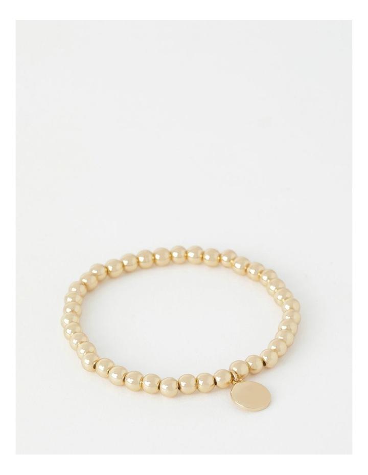 Charm Stretch Rose Gold Bracelet image 1
