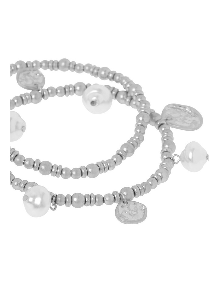 Pearl Stretch Bracelet Set image 2
